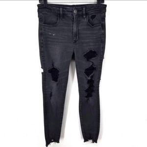 American Eagle Hi Rise Stretch Distressed Jeans 8